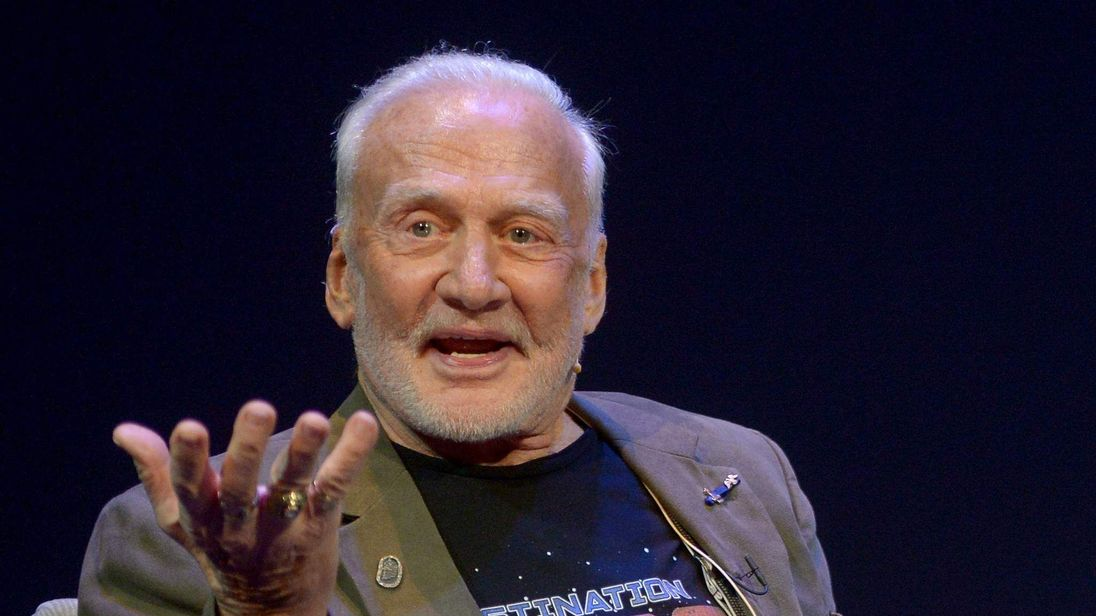 Buzz Aldrin at the Science Museum in London