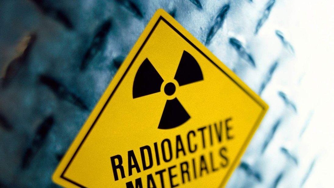A nuclear warning symbol