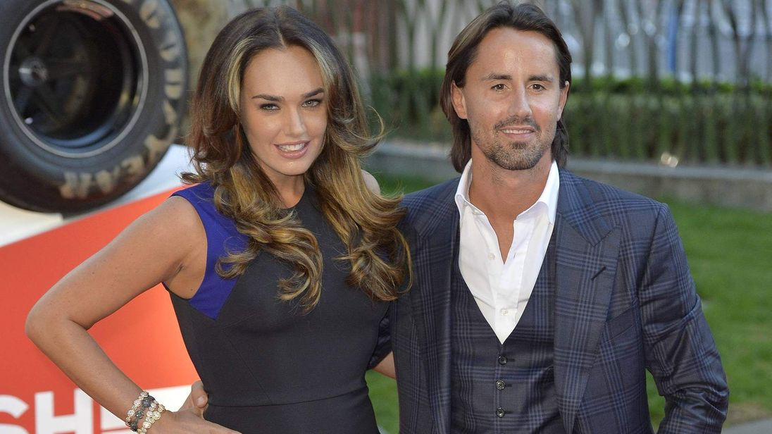 Tamara Ecclestone and her husband Jay Rutland arrive at the world premiere of Rush at a cinema in Leicester Square, central London