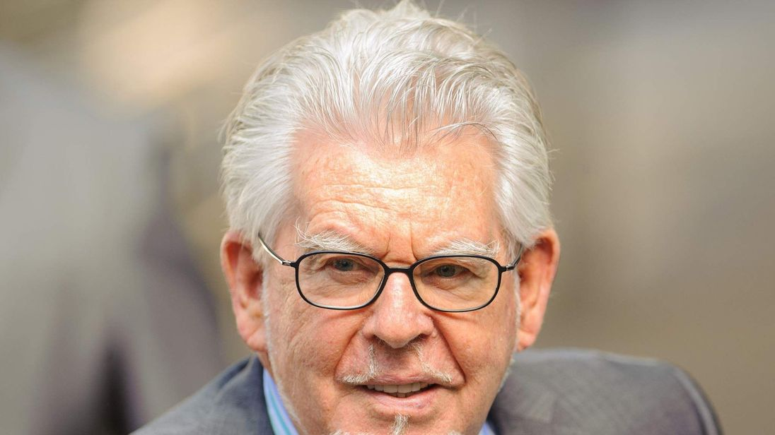 Rolf Harris arrives at Southwark Crown Court, London