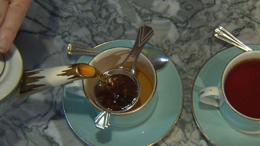 Cups of tea at Fortnum and Mason