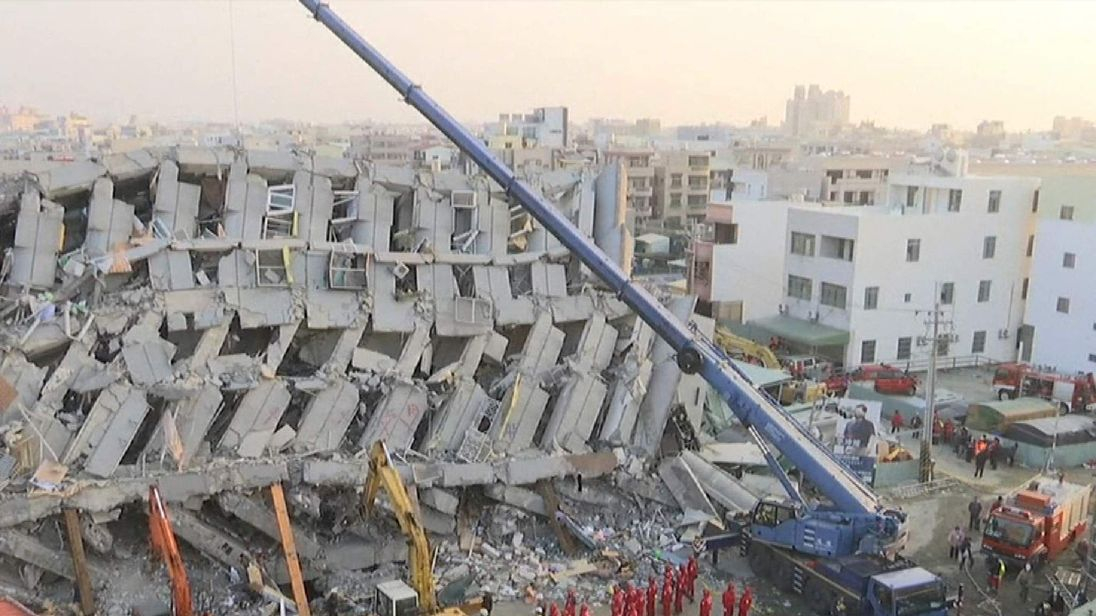 A 17-storey building that collapsed.