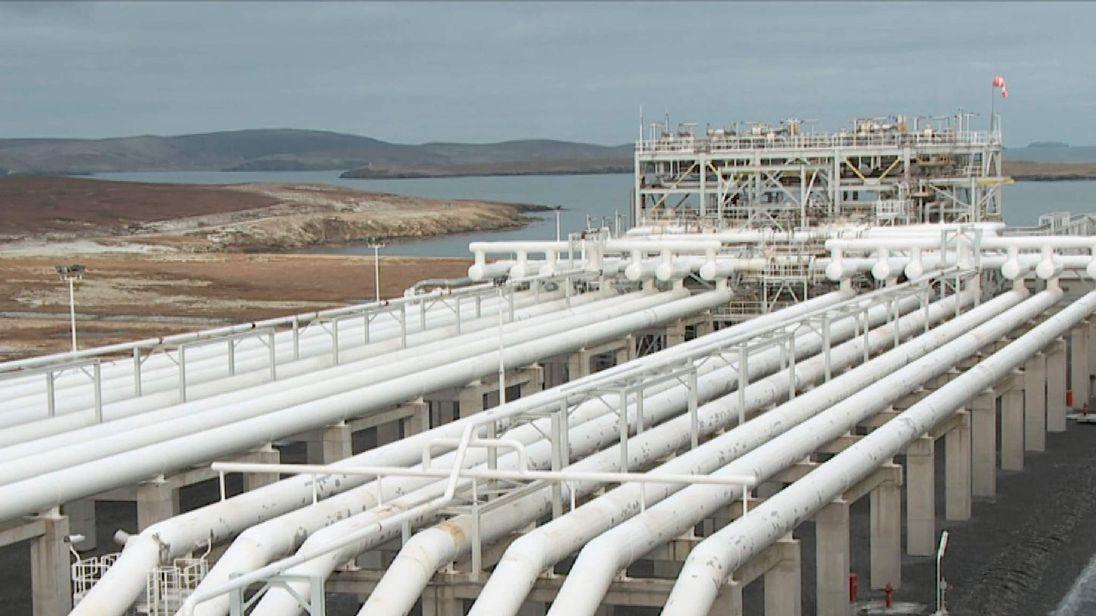 Shetland gas plant screen grab