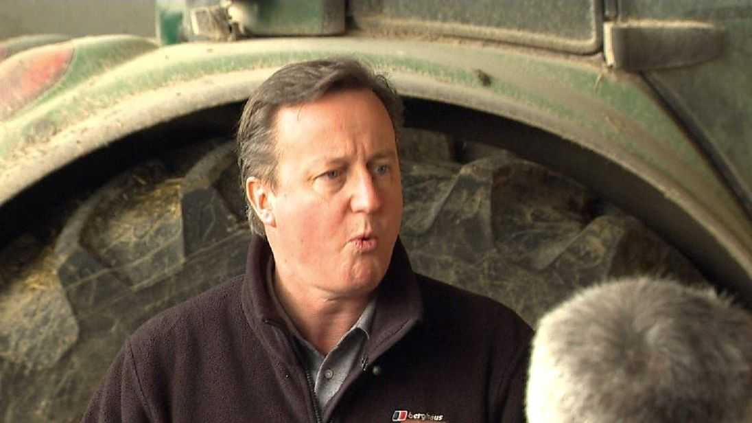 David Cameron in County Antrim