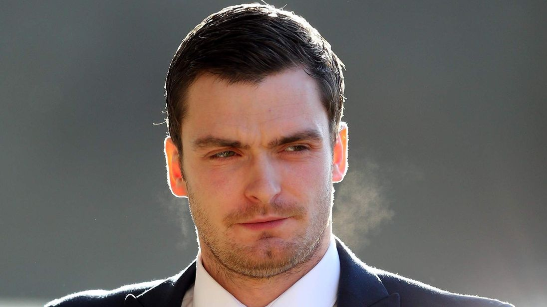 Adam Johnson arrives at Bradford Crown Court on 23 February 2016.