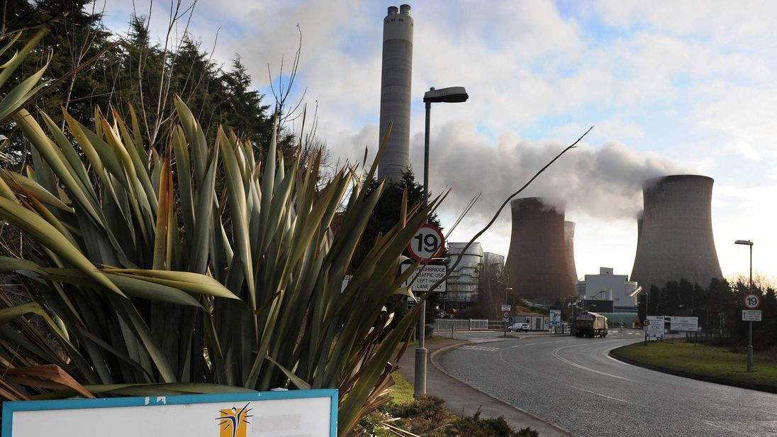 Rugeley power station, owned by British
