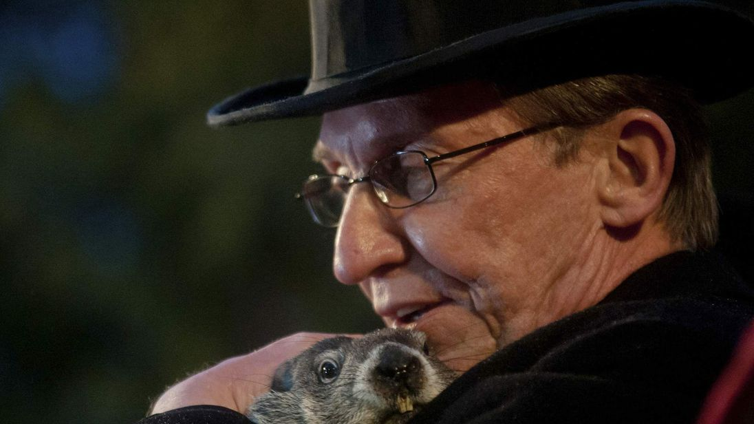 Groundhog Punxsutawney Phil predicts an early spring