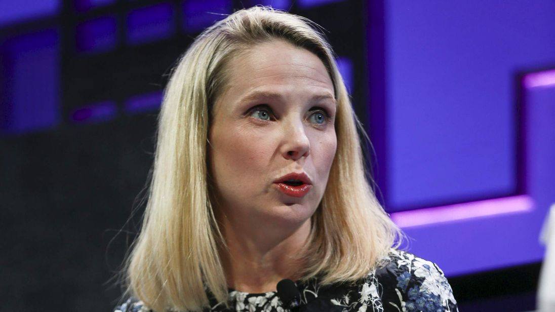 Marissa Mayer, President and CEO of Yahoo, participates in a panel discussion at the 2015 Fortune Global Forum in San Francisco