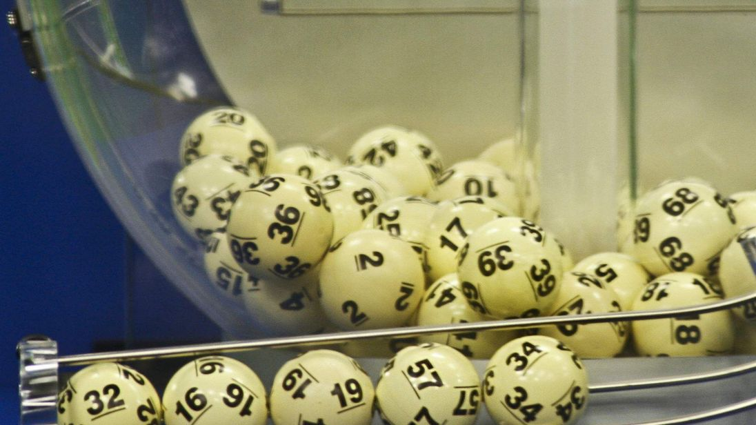 The winning Powerball numbers are shown after being drawn at the Florida Lottery studio in Tallahassee