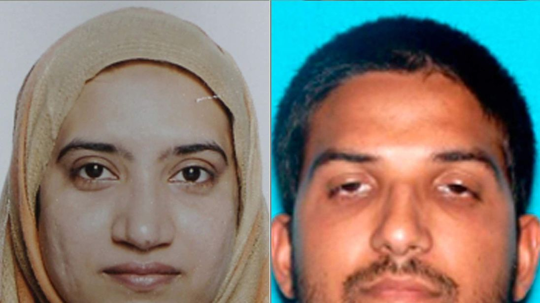 Tashfeen Malik, L, Syed Rizwan Farook San Bernardino attacks