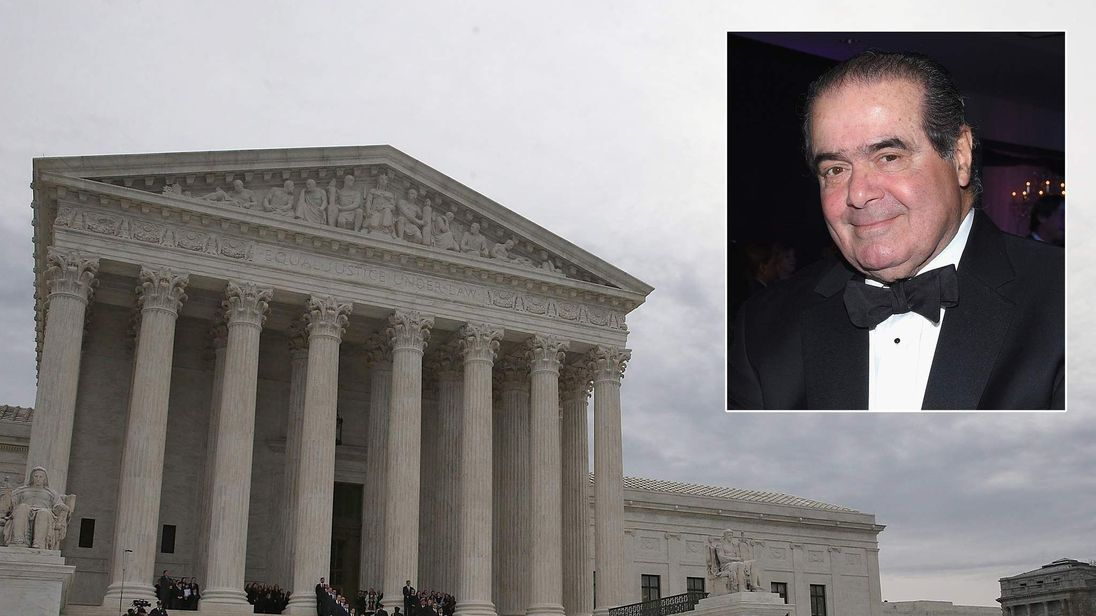Justice Scalia lies in repose in Supreme Court Great Hall