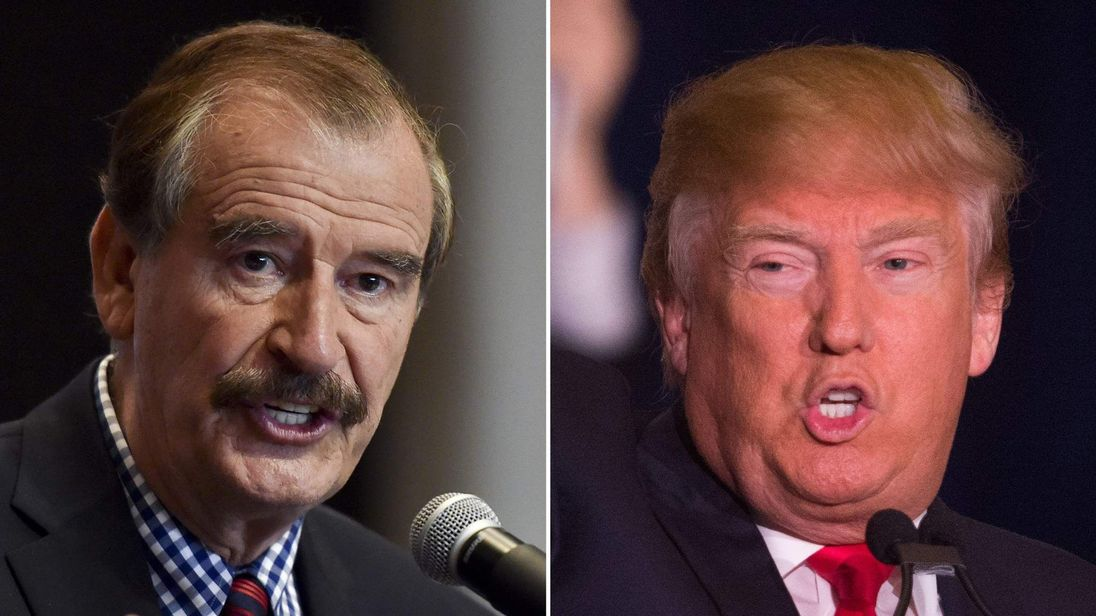 Donald Trump and Vicente Fox composite