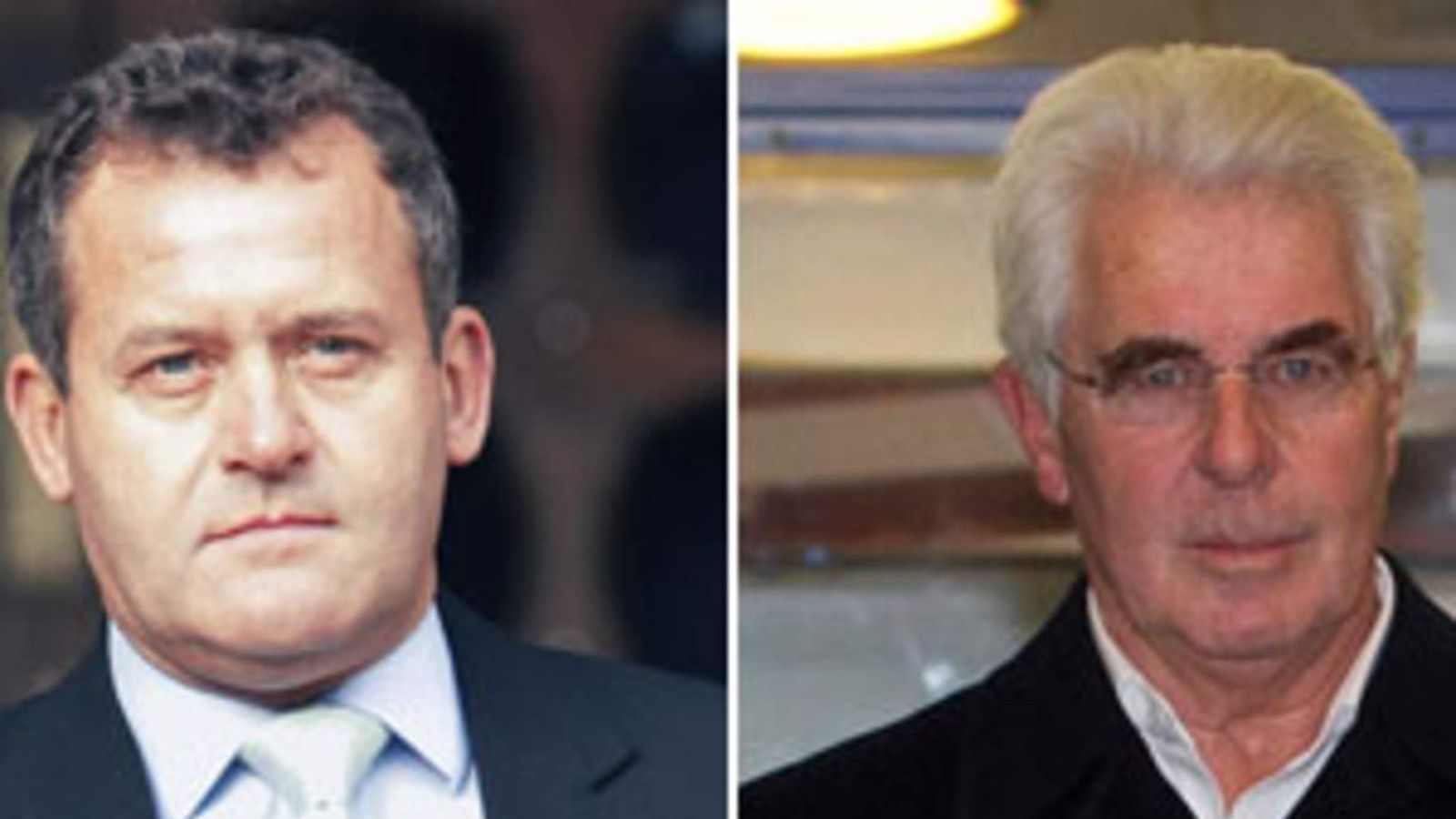 Paul Burrell and Max Clifford.
