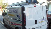 Openreach van, part of the BT Group