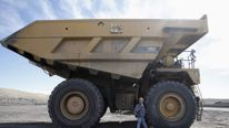 Large dump trucks are used in the mining industry globally