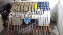 Some of the weapons the men are accused of smuggling