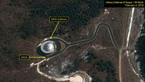Satellite images at Sohae launch site