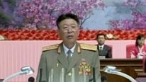 Ri Yong-Gil makes a speech in Pyongyang in August 2014