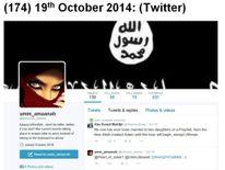 Police photo of Tareena Shakil's Twitter page