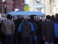 Funeral of David Byrne in Dublin