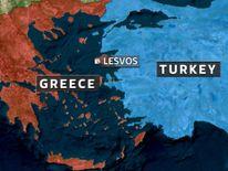 Location of Lesvos