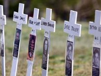 Ten-year anniversary of the Columbine High School shootings in Colorado