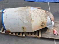 Images released by South Korea of what they claim is debris from a rocket launch by North Korea.