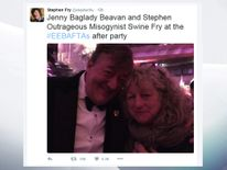 Stephen Fry with Jenny Beavan
