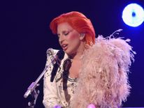 58th Grammy Awards Lady Gaga performs David Bowie tribute