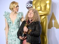 Actress Cate Blanchett (L) and costume designer Jenny Beavan