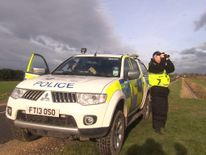 Illegal hare coursing in UK