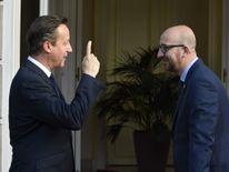 David Cameron and Charles Michel