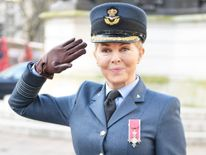 Carol Vorderman at the 75th anniversary of the Air Cadets.