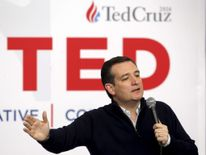 U.S. Republican presidential candidate Ted Cruz speaks at a campaign event in Jefferson