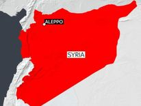 Map of Syria and Aleppo