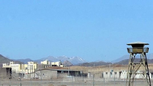 The Natanz uranium enrichment facility in Iran.