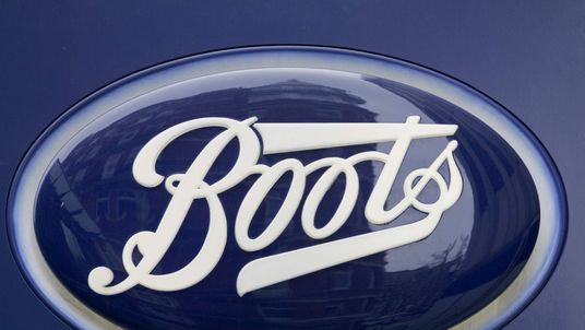 The logo of the British high street pharmacy chain Alliance Boots is seen in central London