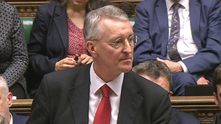 Shadow foreign secretary Hilary Benn