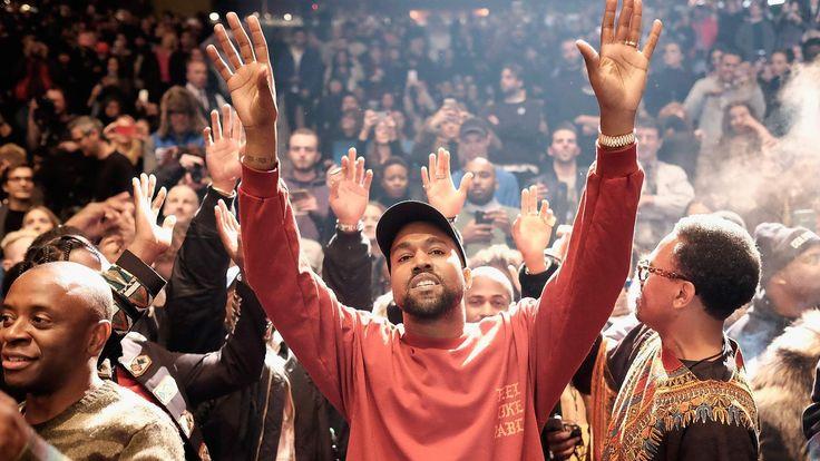 Kanye West performs during Kanye West Yeezy Season 3