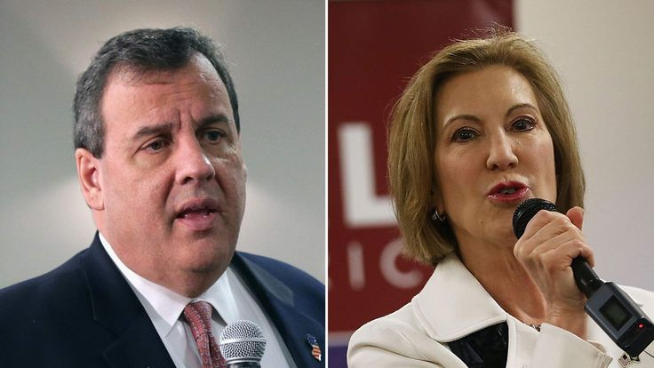 Republican presidential candidates Chris Christie and Carly Fiorina have suspended their campaigns