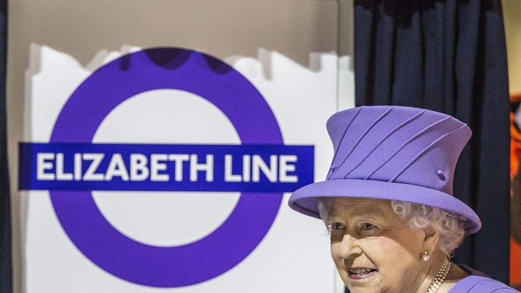 Queen Elizabeth II during a visit to the site of the new Crossrail Bond Street station