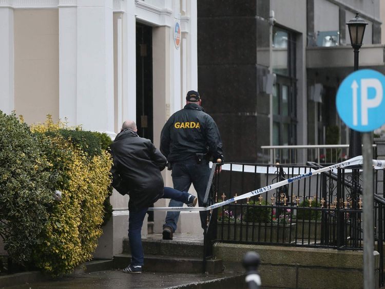 Shooting at Dublin hotel.