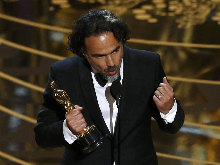 "Mexico's Alejandro Inarritu wins the Oscar for Best Director for the movie ""The Revanant"" at the 88th Academy Awards in Hollywood"
