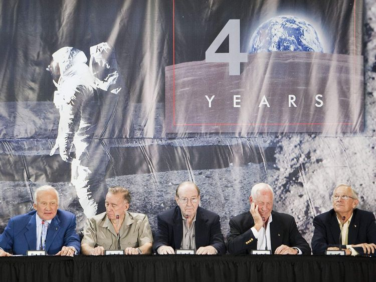 Apollo Astronauts Mark 40th Anniversary Of First Moon Landing