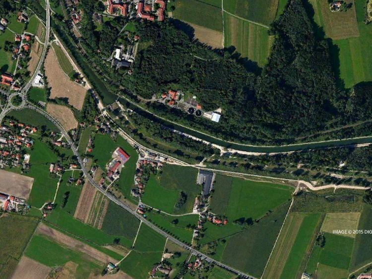 Bavaria train crash satellite of rail track