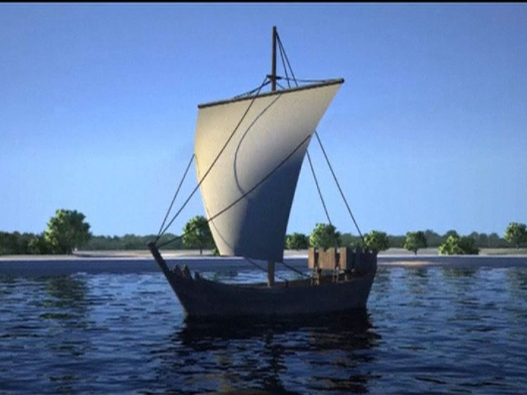120216 NETHERLANDS medieval boat raised from riverbed in Kampen