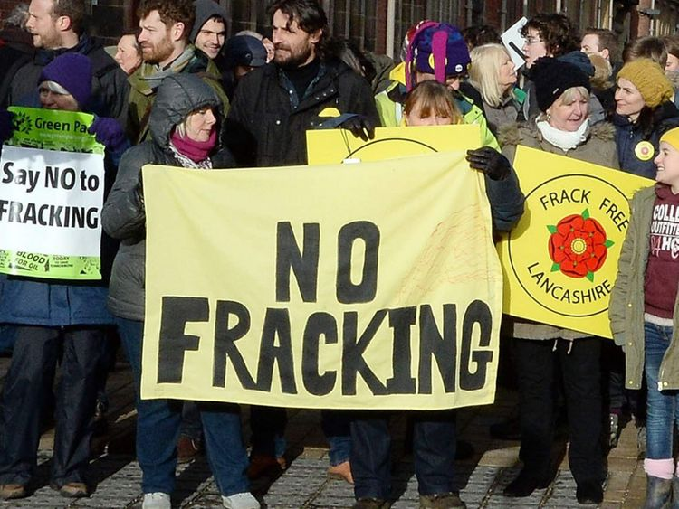 Fracking Protests In Preston Lancashire