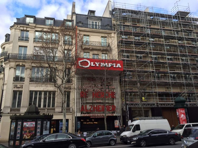 The Olympia music hall in Paris