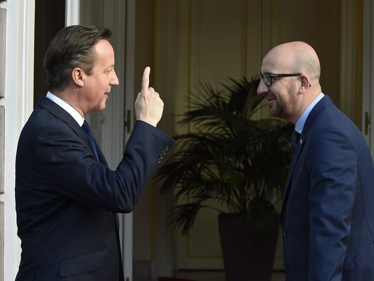 David Cameron and Charles Michel
