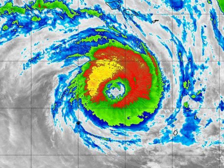 Cyclone winston makes landfall Pic: NASA